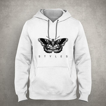 Styles Butterfly Tattoo - Gray/White Unisex Hoodie - HOODIE-039