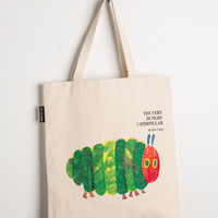 Out of Print Scholastic Bookshelf Bandit Tote in Caterpillar