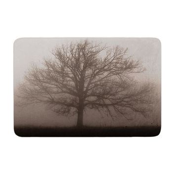 "Angie Turner ""Lonely Tree"" Dark Fog Memory Foam Bath Mat"