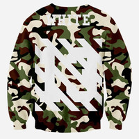 Camouflage WHITE style men 3d sweatshirt print skulls letters WHITE number 13 lovely hoodies long sl