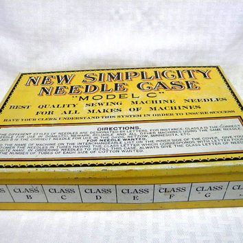 New Simplicity Needle Case 1930s store display