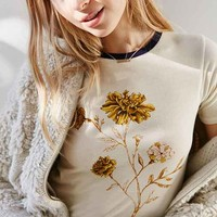 Truly Madly Deeply Marigold Shrunken Ringer Tee
