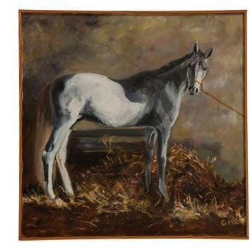"Grace B. Keogh ""White Horse"" Painting"
