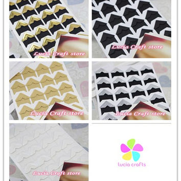 (1 sheet=24 pcs Corner Stickers) DIY Scrapbooking Paper Wedding Photo Album Frame Decoration Stickers 048012002