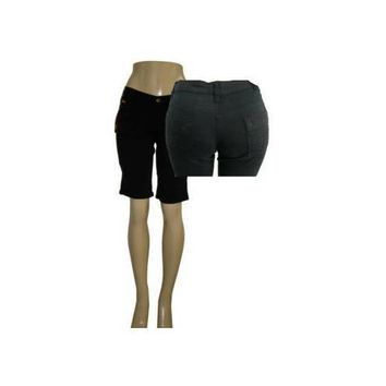 Juniors Bermuda Twill Cotton Shorts
