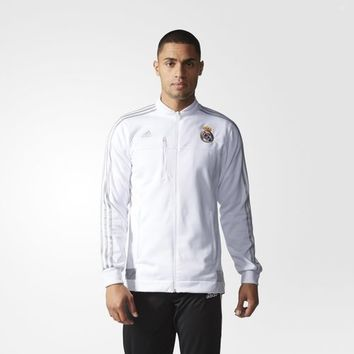 adidas Real Madrid Anthem Jacket - White | adidas US