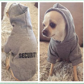 Security Dog Clothes Classic Pet Dog Clothes For Small Dogs Coat Spring Autumn Puppy Clothing Yorkie Chihuahua Coat 10dy3S1Q