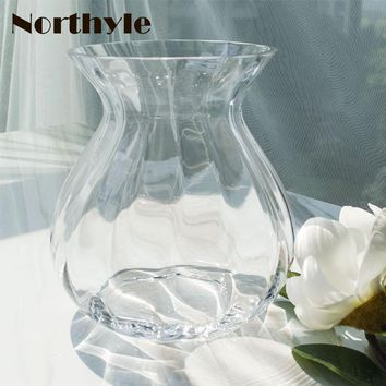 Simple glass flower vase clear vase Flower bottle Home decoration glass vase for flower arrangements Wedding Decoration