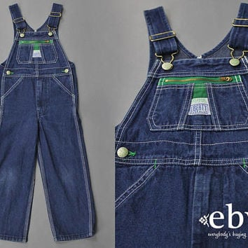 Kid's Vintage Overalls Children's Vintage Boy's Vintage Girl's Vintage Liberty Overalls 5 5T Toddler Vintage Denim Overalls Mom and Me