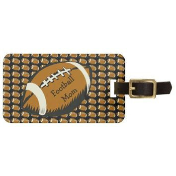 Football Mom Brown and Black Sports Luggage Tag