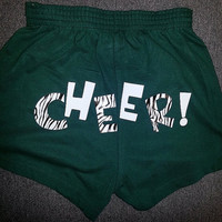 Cheer Shorts with Zebra/White Lettering