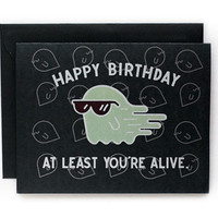 Happy Birthday Ghost A2 folded Offset Card