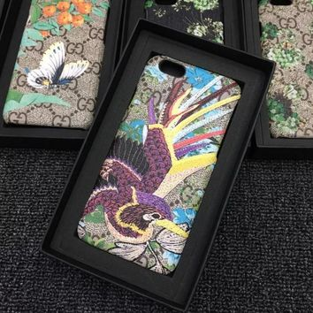 Gucci Print Flower iphone 7iphone 6s 7iphone 7plus full bag frosted lovers case hard shell-1