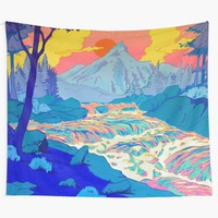 'River' Wall Tapestry by Adam Springer