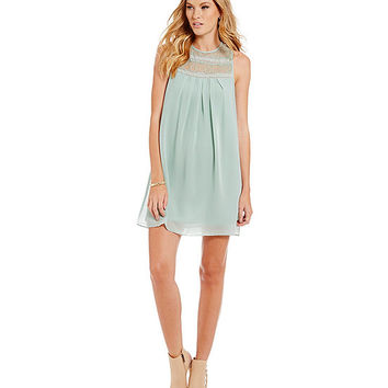 BCBGeneration Lace-Yoke Babydoll Dress | Dillards