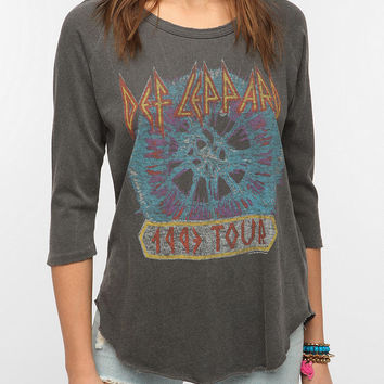 Urban Outfitters - Junk Food Def Leppard 3/4 Sleeve Tee
