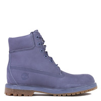 Timberland 6-Inch Premium Slate Blue Waterproof Boots in Grey Nubuck