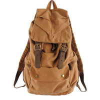 Rucksack Canvas bag Backpack school bag women bag men's bag satchel travel bag Khaki
