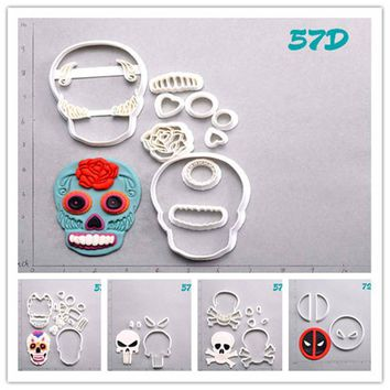 Deadpool Dead pool Taco Sugar Skull  Cookie Cutter Set Custom Made 3D Printed Cookie Cutter Set Cake Decoration Tools Fondant Moulds for Cupcake AT_70_6