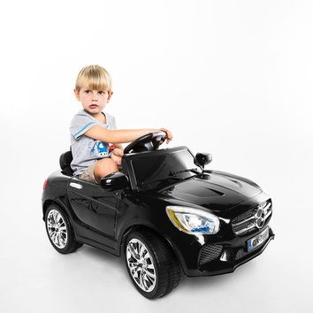Costway 6V Kids Ride On Car RC Remote Control Battery Powered w/ LED Lights MP3 Black