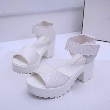 Women Open Toe Peep Toe Platform High Heel Gladiator Sandals Chunky Shoes Brand new Summer Style women sandals