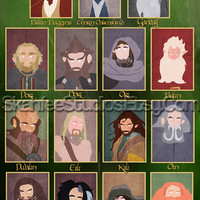 """The Hobbit Poster Minimalist Poster Character Portraits 16x24"""""""