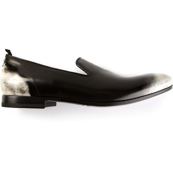 Alexander McQueen two-tone skull loafer