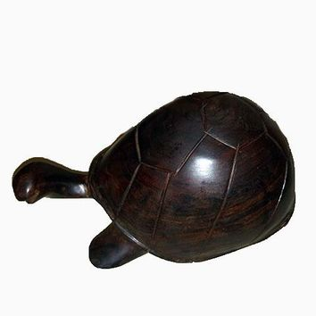 Ironwood Carved Tortoise, Turtle