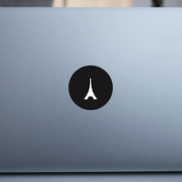 Special Apple Logo 10  Eiffel Tower Mac Book Mac Book Air Mac Book Pro Mac Sticker Mac Decal Apple Decal Mac Decals