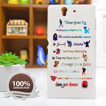 White Disney Case Disney Lessons Learned Mash Up Case for iPhone 6 / 5c / 5/5s / 4/4s, Galaxy S6, S5, S4, S3, Xperia Z,Z1,Z2 cases