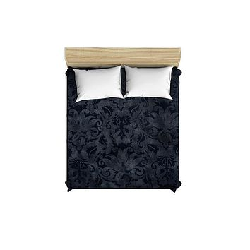 Blue Brocade Duvet Cover