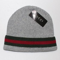 Gucci Print Hip hop Women Men Beanies Winter Knit Hat Cap