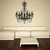 Wall Decal Vinyl Sticker Decals Art Decor Design Chandelier Luster Light Living room Bedroom Modern Mural Fashion (r532)