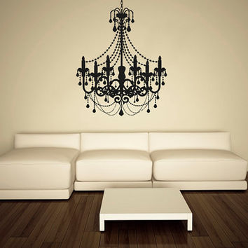 Shop chandelier wall art on wanelo wall decal vinyl sticker decals art decor design chandelier luster light living room bedroom modern mural aloadofball Gallery