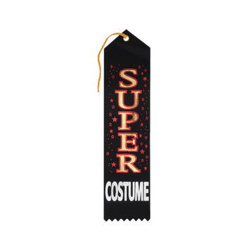 "Beistle Halloween Celebration Birthday Party Super Costume Award Ribbon 2"""" x 8"""" Pack of 6"