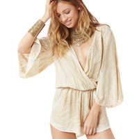 Blue Life Wild And Free Romper in Boa Snake