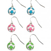 Neon Soccer Ball Earrings | Girls Earrings Jewelry | Shop Justice