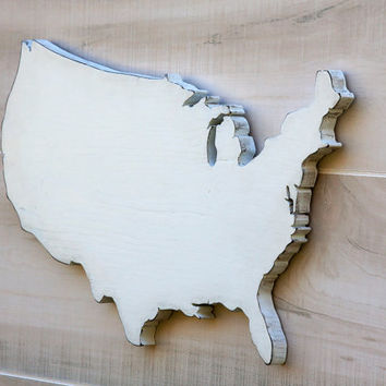 United States US state shape sign wood cutout wall art with heart or star. 24 Colors. Wedding Country Chic College Sports Fan Decor Gift