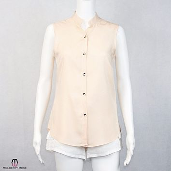 Hutch Sleeveless Button Down Blouse