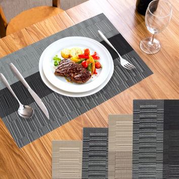 4Pcs/lot Placemat Europe PVC Dining Table Mats Disc Pads Waterproof Slip-resistant Pad Home Kitchen Table Decoration Accessories