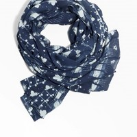 & Other Stories   Mixed Print Scarf   Dark Blue