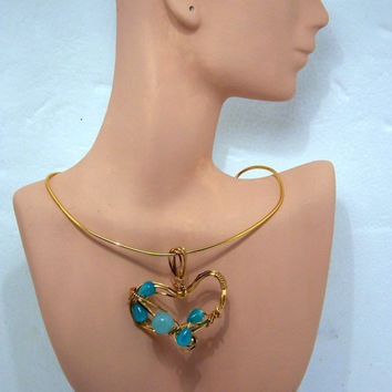 Free Form Turquoise Heart