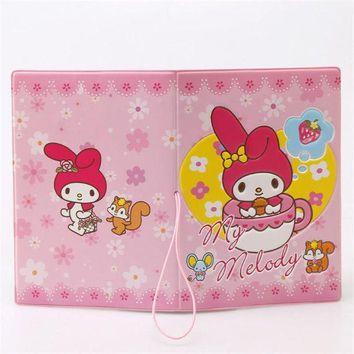 CREYCI7 My Melody Cute Girl 3D Design Fashion Passport holder Cover ID package Travel Accessories Ticket Protective Case Gift