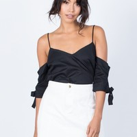Noemi Tied Sleeves Top