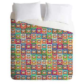 Sharon Turner Peace Campers Duvet Cover