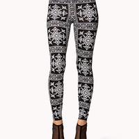 Baroque Print Leggings