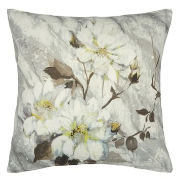 Designers Guild Carrara Fiore Platinum Decorative Pillow