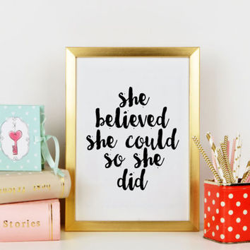 Girl quote Printable women gift Printable kids gift Bedroom wall quotes Nursery quote Nursery print Gift idea Nursery quote Nursery decor