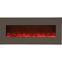 """Wall-Mount or Built-In LED Fire Effect Electric Fireplace 51"""" Modern Auburn Frame"""