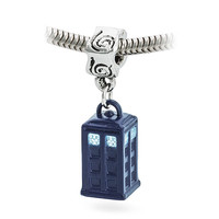 Doctor Who Blue TARDIS Dangle Charm Bead - Charm Only